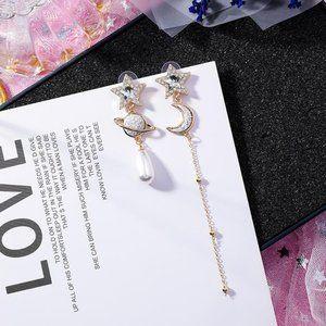 ❤️️NEW MOONLIGHT Moon Star Handmade Earrings 63